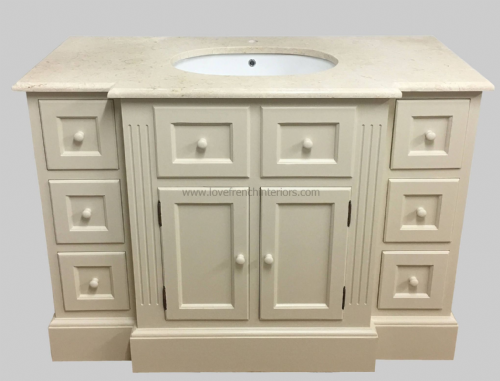 Bespoke Single Sink Vanity Unit with Breakfront